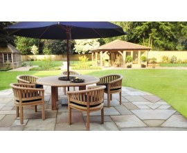 Orion Wood Dining Set|Chunky Garden Table & Chairs|Hardwood Dining Set