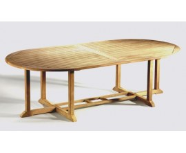 10 Seater Dining Table | Dining Table for 10 | Solid Wood Garden Table
