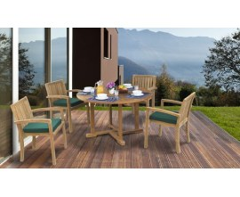 Compact Garden Table and Chairs | Stacking Chairs and Tables