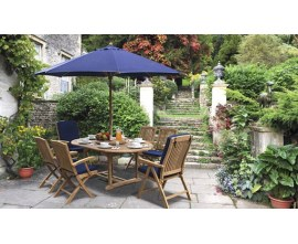 Garden Table and Reclining Chairs | Reclining Garden Set