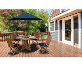 Small Teak Patio Set | Small Teak Dining Table and Chairs Sets