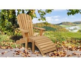 Teak Adirondack Chair with Ottoman | Classic Teak Adirondack Chair