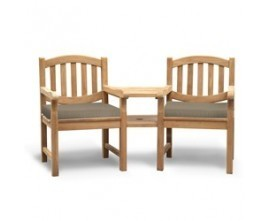 Teak Garden Love Seats | Outdoor Love Chairs | Jack and Jill Seat