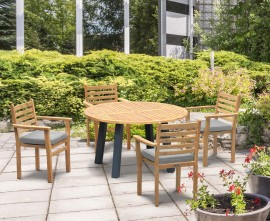 Diskus Teak & Aluminium Dining Sets | Metal & Teak Tables
