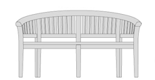 Apollo Banana Teak Garden Bench